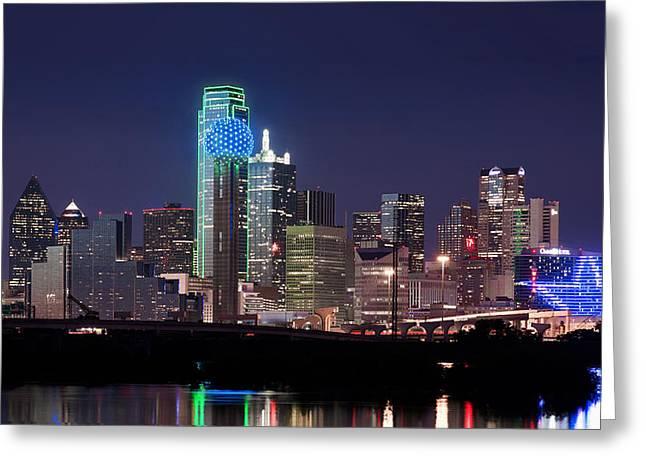 Dallas Skyline Cowboys Greeting Card