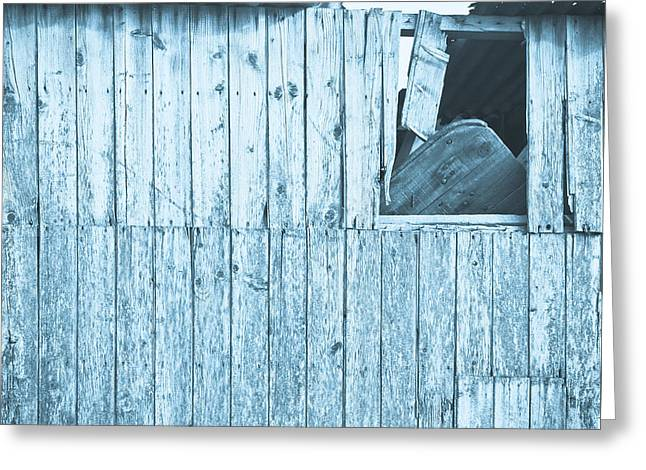 Damaged Hut Greeting Card by Tom Gowanlock