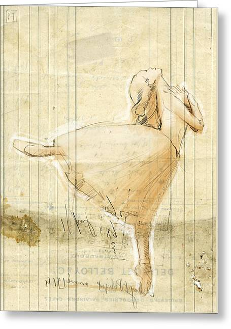 Dance Greeting Card by H James Hoff