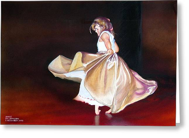 Dance Greeting Card by Tim Johnson