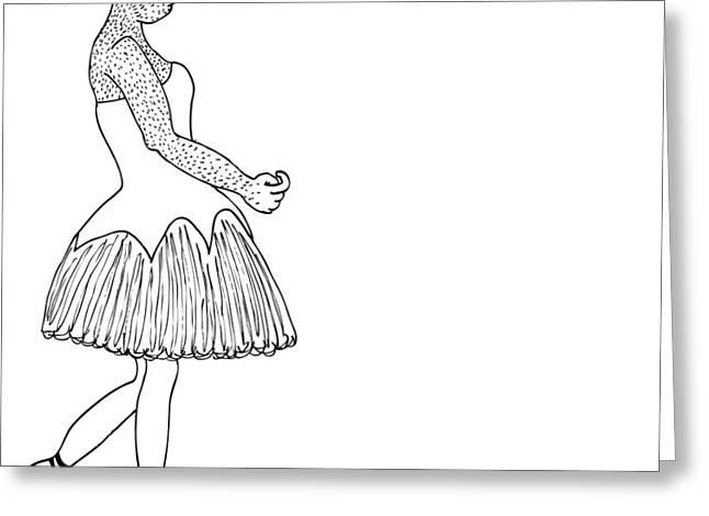 Dancer Greeting Card by Karl Addison
