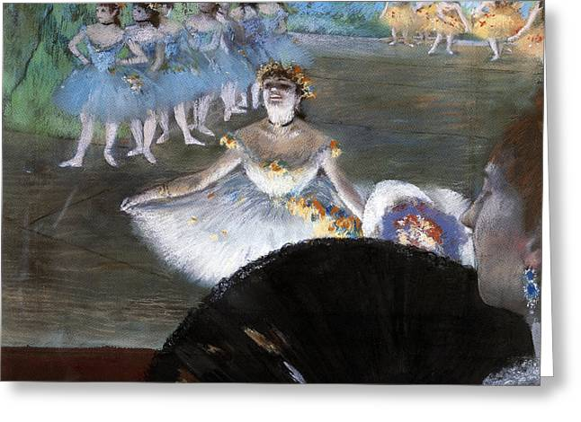Dancer With A Bouquet Of Flowers Greeting Card by Edgar Degas