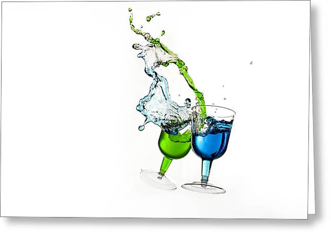Dancing Drinks Greeting Card