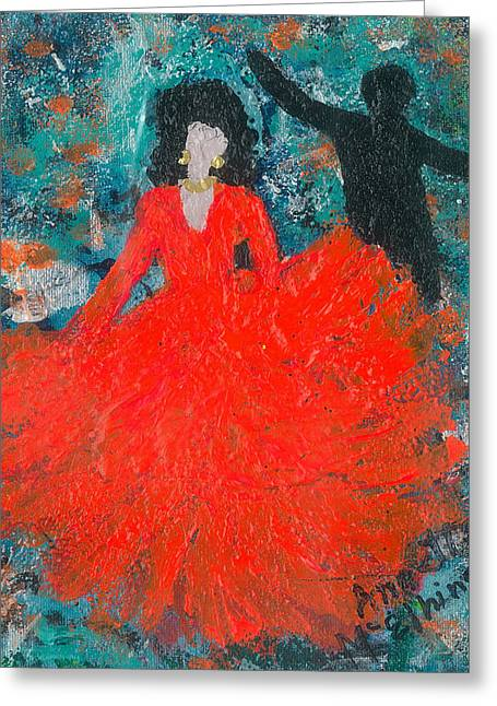 Living With Joy Greeting Cards - Dancing Joyfully With or Without NED Greeting Card by Annette McElhiney