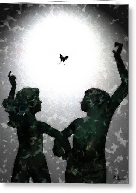 Dancing Silhouettes Greeting Card by Holly Ethan