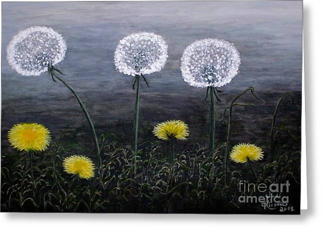 Dandelion Family Greeting Card