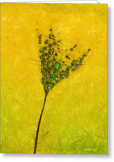 Dandelion Flower - Pa Greeting Card by Leonardo Digenio