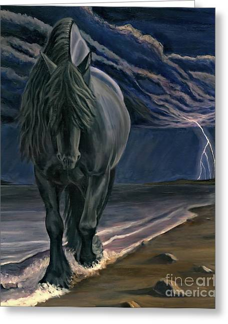 Greeting Card featuring the painting Dark Knight Of The Soul by Sheri Gordon