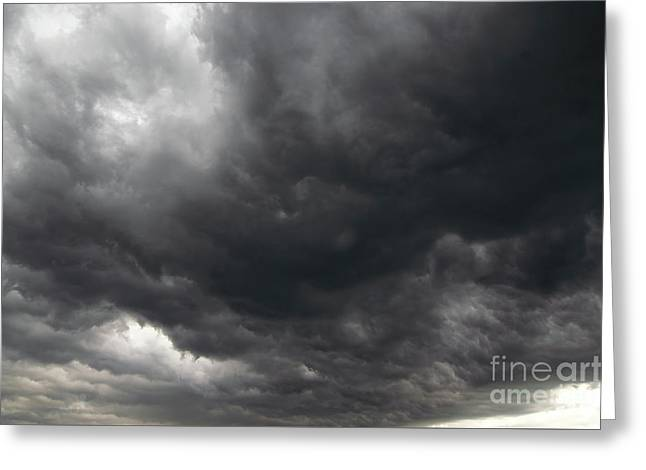 Dark Rainy Clouds Greeting Card