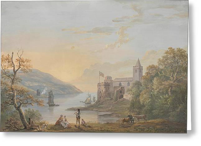 Dartmouth Castle Greeting Card by Paul Sandby