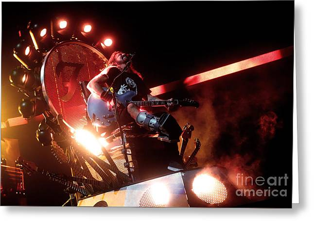 Dave Grohl - Foo Fighters Greeting Card