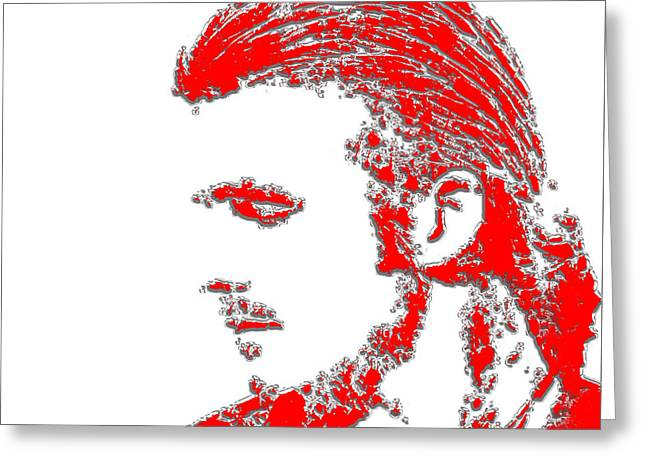 David Beckham 4b Greeting Card by Brian Reaves