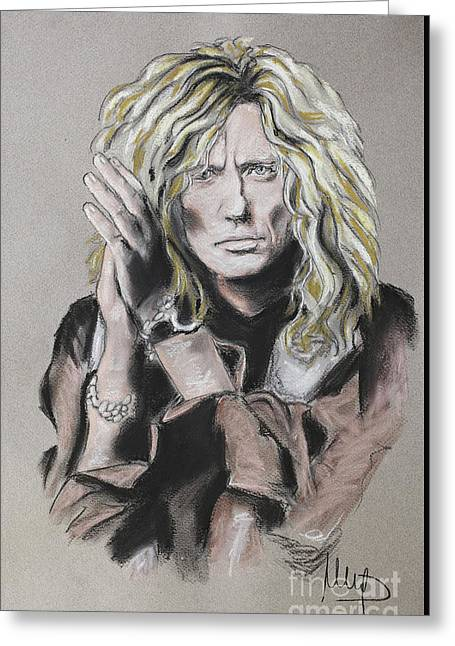 David Coverdale Greeting Card by Melanie D