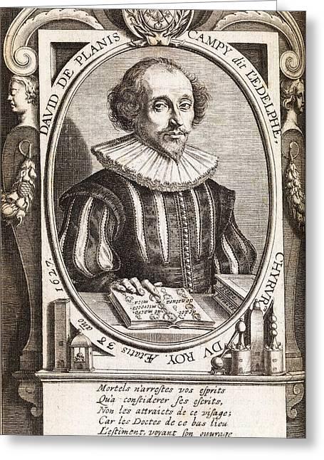 David De Planis Campy, French Alchemist Greeting Card