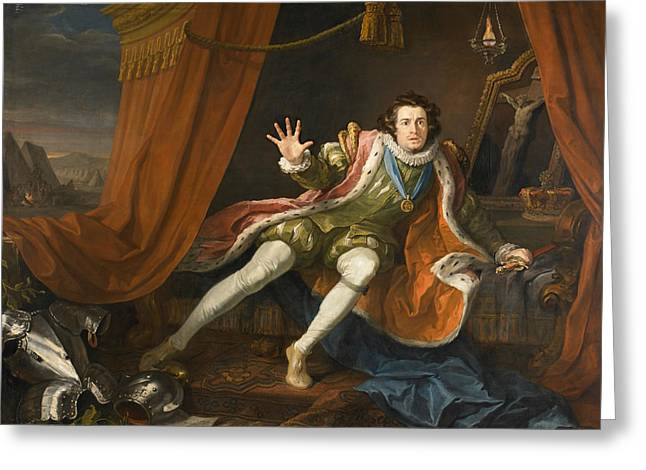 David Garrick As Richard IIi Greeting Card