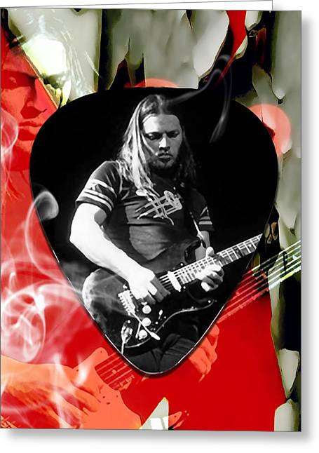 David Gilmour Pink Floyd Art Greeting Card by Marvin Blaine