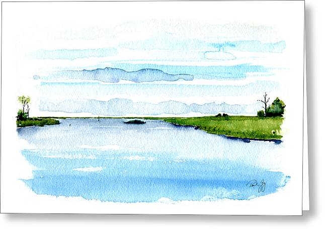 Davis Bayou Ocean Springs Mississippi Greeting Card by Paul Gaj