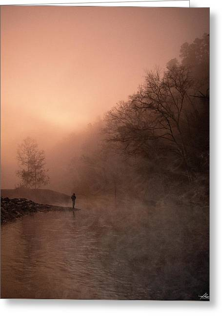 Dawn On The Lower Mountain Fork River Greeting Card