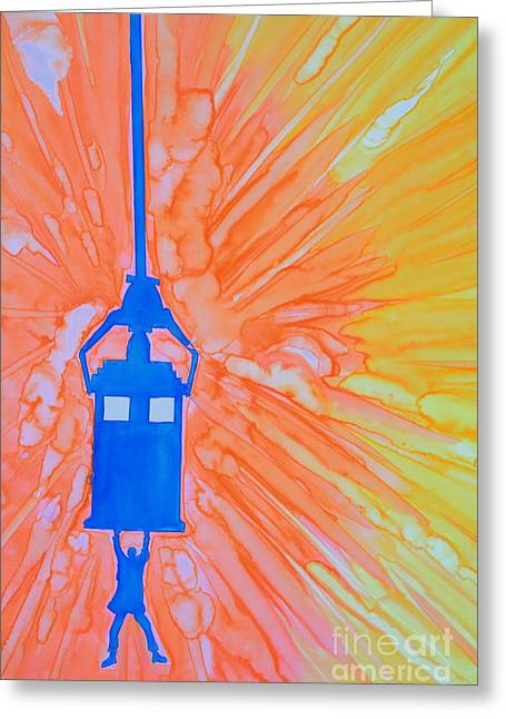 Day Of The Doctor Greeting Card by Justin Moore