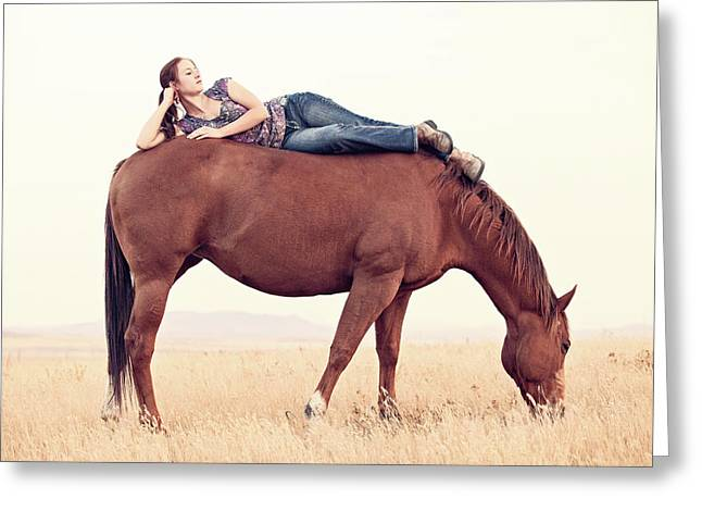 Daydreaming On A Horse Greeting Card