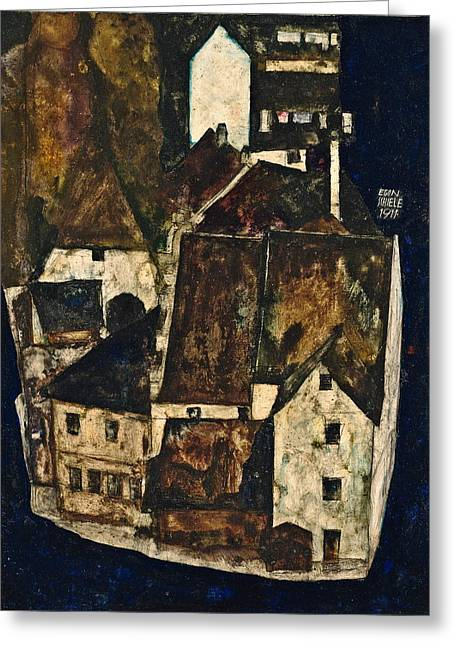 Dead City IIi City On The Blue River IIi 1911 Greeting Card by Egon Schiele