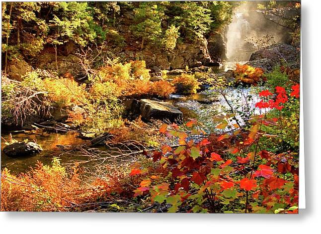 Dead River Falls  Marquette Michigan Greeting Card