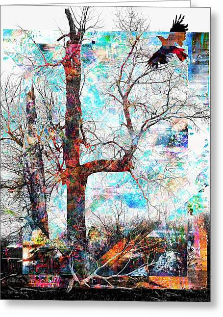 Dead Tree And Crow Greeting Card