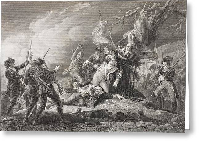 Death Of General Montgomery, Battle Of Greeting Card by Vintage Design Pics