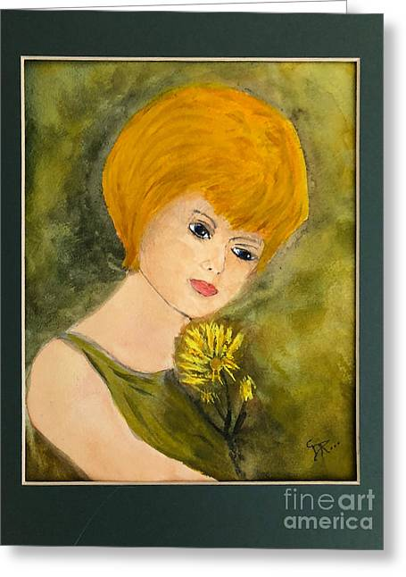 Greeting Card featuring the painting Debbie by Donald Paczynski