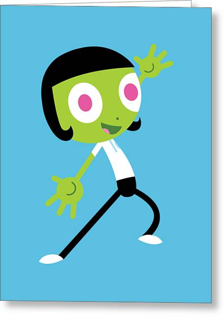 Dee Excited Greeting Card by Pbs Kids