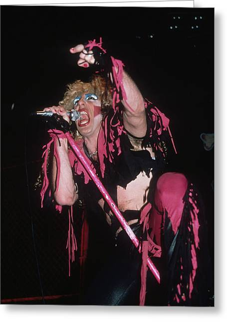 Dee Snider Of Twisted Sister Greeting Card