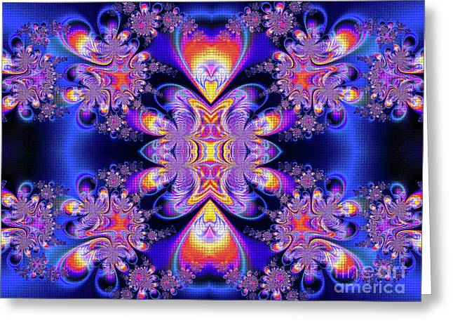 Greeting Card featuring the digital art Deep Heart by Ian Mitchell