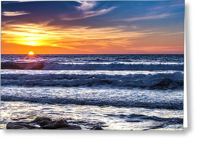 Sunset - Del Mar, California View 1 Greeting Card