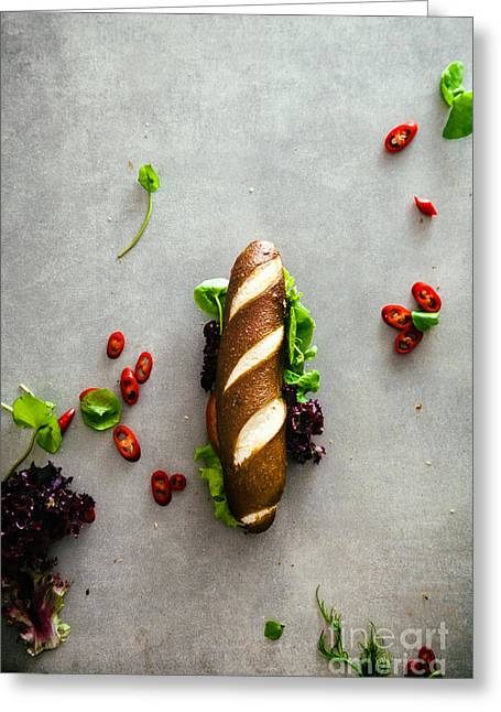 Deli Sandwich With Vegetables Greeting Card