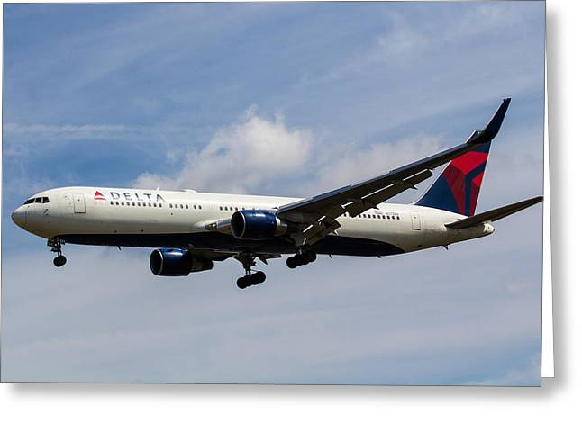 Delta Airlines Boeing 767 Greeting Card