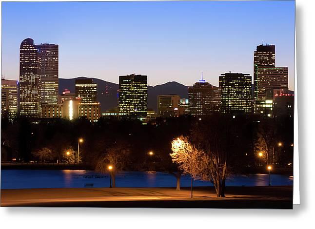 Denver Colorado Mountain Skyline Greeting Card