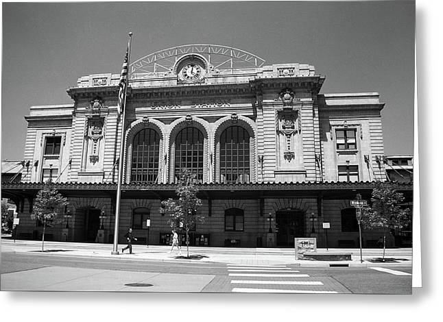 Denver - Union Station Film Greeting Card by Frank Romeo