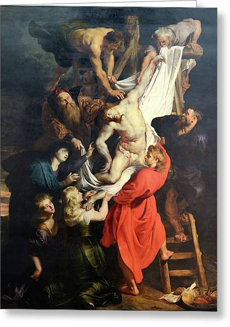 Descent From The Cross Greeting Card