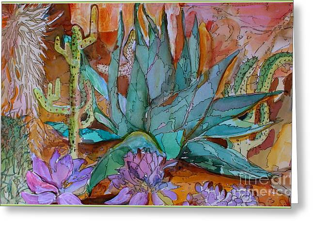 Desert Heat Greeting Card by Mindy Newman