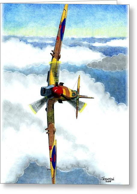 Desert Spitfire Greeting Card by Trenton Hill