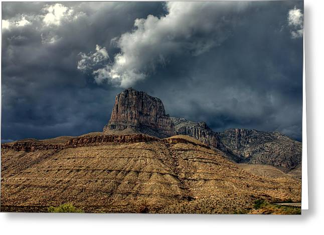 Desert Storm Clouds Greeting Card by Farol Tomson