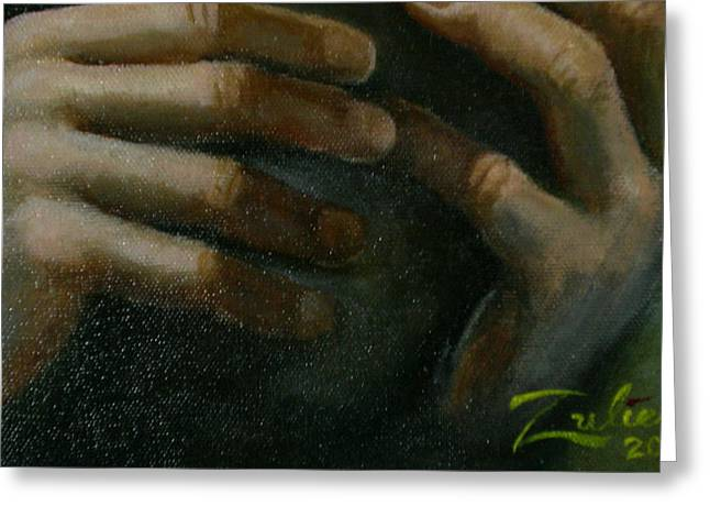 Detail - Temptation Of Christ Greeting Card by R Zulienn