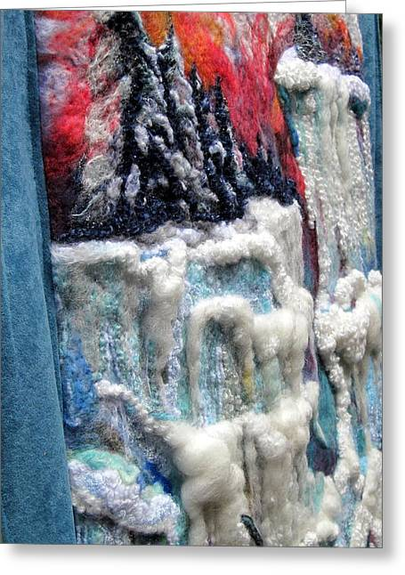 Detail Of Winter Greeting Card by Kimberly Simon