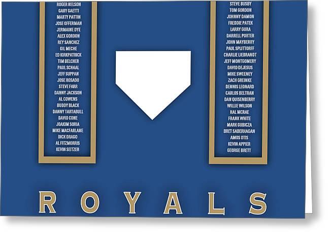 Kansas City Royals Art - Mlb Baseball Wall Print Greeting Card by Damon Gray