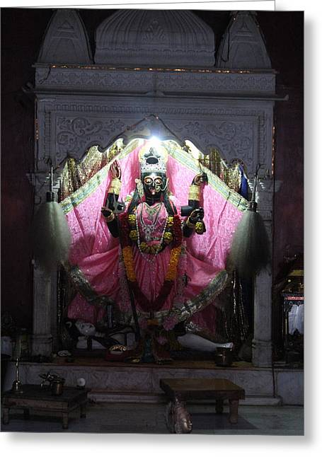 Devi Temple, Vrindavan Greeting Card