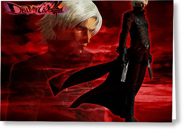 Devil May Cry Greeting Card