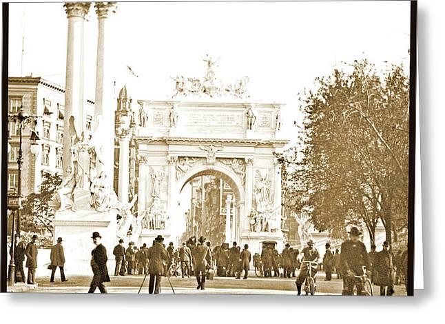 Dewey's Arch, New York City, 1900, Vintage Photograph Greeting Card by A Gurmankin