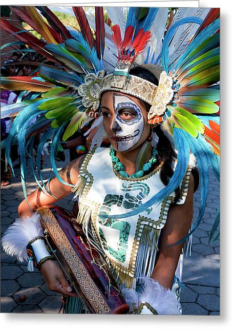 Del Muerto Greeting Cards - Dia de los Muertos - Day of the Dead 10 15 11 Procession Greeting Card by Robert Ullmann