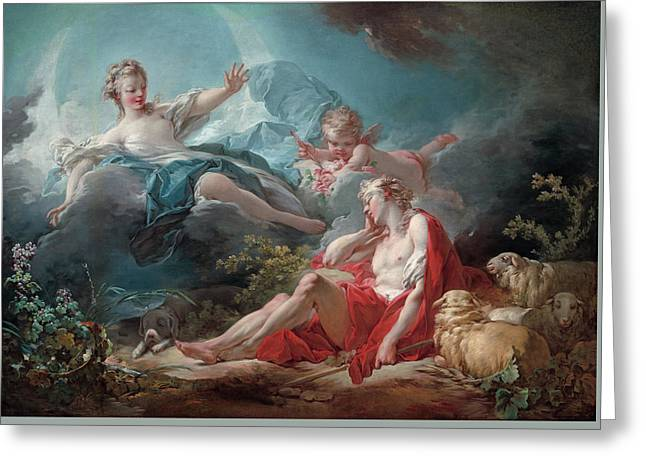 Diana And Endymion Greeting Card by Jean-Honore Fragonard