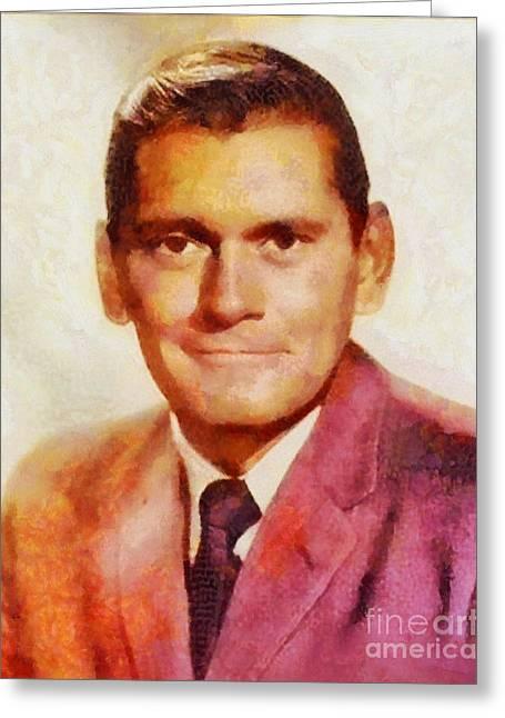 Dick York, Vintage Hollywood Actor Greeting Card by Sarah Kirk